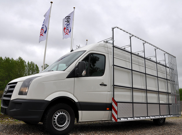 Glass Carrier Rack from Tekimex on VW Crafter