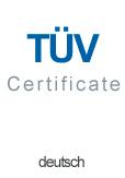Tysk TUV Certifikat Glasstativer