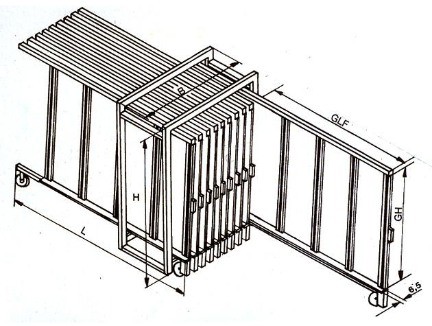 Glaslagersystemer fra Tekimex - Minitek Størrelse