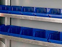 Værktøjskasser til reolen i glarmesterbilen