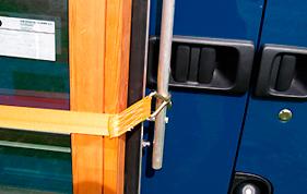Strop til at holde vinduer ved glasstativet